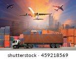 industrial container cargo... | Shutterstock . vector #459218569