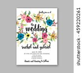 wedding card or invitation with ... | Shutterstock .eps vector #459220261