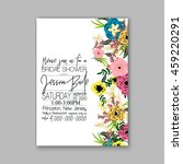 wedding card or invitation with ... | Shutterstock .eps vector #459220291