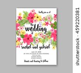 wedding card or invitation with ... | Shutterstock .eps vector #459220381