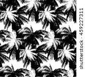 seamless vector monochrome... | Shutterstock .eps vector #459227311
