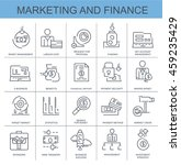 vector icons. marketing and... | Shutterstock .eps vector #459235429