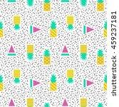 pineapples geometric seamless... | Shutterstock .eps vector #459237181