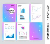 six page of modern annual... | Shutterstock . vector #459240634