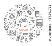 line web concept for science.... | Shutterstock .eps vector #459241711