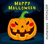 spooky laughing pumpkin with... | Shutterstock .eps vector #459242209