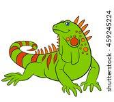 cartoon animals. cute green...   Shutterstock .eps vector #459245224