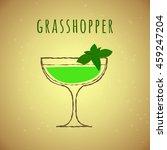 vector illustration of cocktail ...   Shutterstock .eps vector #459247204
