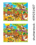 cartoon page with differences   ... | Shutterstock . vector #459251407