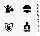 parental control symbols | Shutterstock .eps vector #459255205