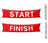 start and finish lines  red... | Shutterstock .eps vector #459259387