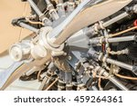 close up of a vintage aircraft... | Shutterstock . vector #459264361