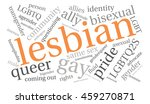 lesbian word cloud on a white... | Shutterstock .eps vector #459270871
