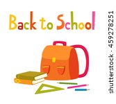 back to school background with... | Shutterstock .eps vector #459278251