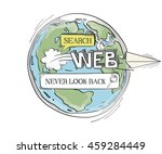 communication sketch never look ... | Shutterstock .eps vector #459284449