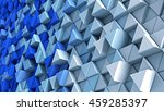 wall of blue and white extruded ...   Shutterstock . vector #459285397