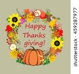 decorative floral frame for... | Shutterstock .eps vector #459287977