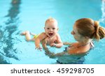 healthy family mother teaching... | Shutterstock . vector #459298705