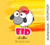 line art based sheep...   Shutterstock .eps vector #459299329
