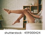 beautiful sensual bare legs of... | Shutterstock . vector #459300424