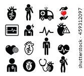 heart disease  heart attack ... | Shutterstock .eps vector #459312097