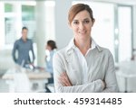 confident woman entrepreneur... | Shutterstock . vector #459314485