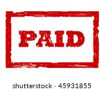 used red paid stamp isolated on ... | Shutterstock . vector #45931855