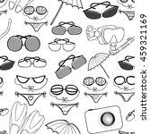 seamless pattern of the goods... | Shutterstock .eps vector #459321169