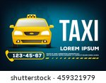 taxi car banner poster template | Shutterstock .eps vector #459321979
