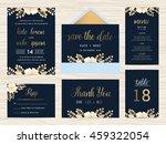 set of wedding suite template... | Shutterstock .eps vector #459322054