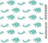 abstract eye seamless pattern.... | Shutterstock .eps vector #459329689