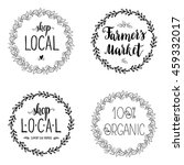 set of four labels  stickers.... | Shutterstock .eps vector #459332017