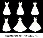 white dresses   vector version | Shutterstock .eps vector #45933271