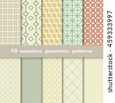 10 geometric seamless patterns... | Shutterstock .eps vector #459333997