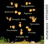 set of dinosaur fossil... | Shutterstock . vector #459336505