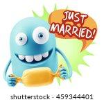 3d rendering. candy gift... | Shutterstock . vector #459344401