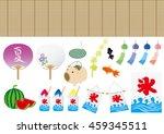 set of japan summer... | Shutterstock .eps vector #459345511