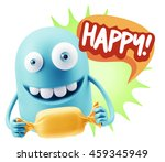 3d rendering. candy gift... | Shutterstock . vector #459345949