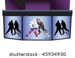 hockey stadium  screen with...   Shutterstock .eps vector #45934930