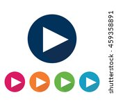 play arrow icon.    Shutterstock .eps vector #459358891