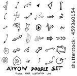 vector hand drawn arrows set | Shutterstock .eps vector #459360154