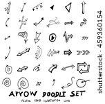 vector hand drawn arrows set | Shutterstock .eps vector #459360154