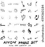 vector hand drawn arrows set | Shutterstock .eps vector #459360184
