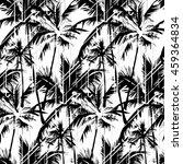 seamless vector monochrome... | Shutterstock .eps vector #459364834