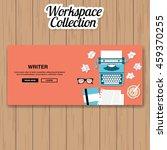 writer workspace vector | Shutterstock .eps vector #459370255
