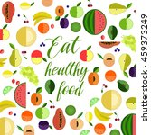 eat healthy food | Shutterstock .eps vector #459373249
