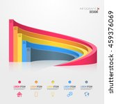 3d infographics element design... | Shutterstock .eps vector #459376069