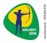 archery icon  vector... | Shutterstock .eps vector #459381955