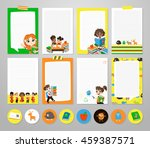 back to school set . pupils... | Shutterstock .eps vector #459387571