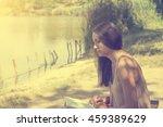 learning   reading woman... | Shutterstock . vector #459389629